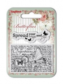 ScrapBerry's Set Of Clear Rubber Stamps 7x7 cm Butterflies No. 3 (SCB4907003B)