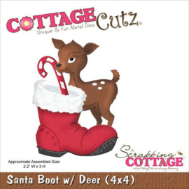 CottageCutz Santa Boot With Deer Christmas Die cc4x4-589