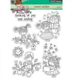 Penny Black clearstamp - Sweet smiles