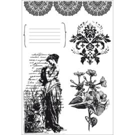 Kaiser craft CS-819 clear stamp 15.5x10cm Charlotte's dream