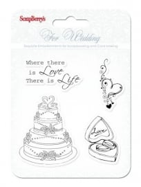 ScrapBerry's Set Of Clear Stamps 10,5 x 10,5 cm Wedding CB4901011b