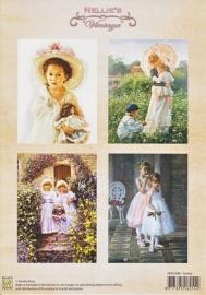 "A4 knipvel Nellie's colour Vintage NEVI008 ""Family"""