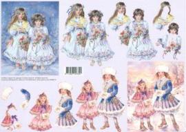 99088/15 Jalekro Meisjes in sneeuw/schaatsen