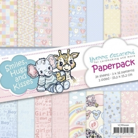 Yvonne Creations - YCPP10004  Paperpack - Smiles, Hugs and Kisses