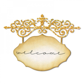 Sizzix 658951 Thinlits Die - Ornate Hanging Sign
