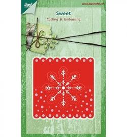 6002/0393 Cutting & Embossing - Kop kaartje sneeuwvlok