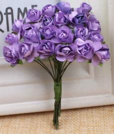 Bloemen 1cm paars