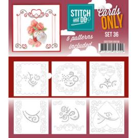 COSTDO10036 Stitch & Do - Cards only - Set 36