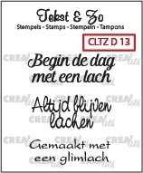 Crealies - Tekst & Zo stempels Diversen CLTZD13 - 130505/1713