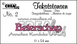 Crealies Tekststans no. 2 Beterschap