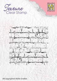 Nellie's Choice Clearstamp - Texture Bricks TXCS003