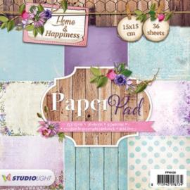Studio Light Paper pad 36 vel 12 designs Home & Happiness nr 39 PPHH39 15x15cm