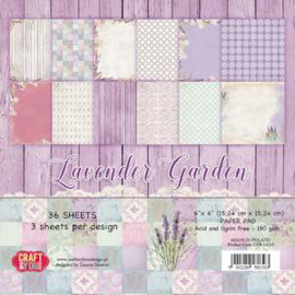 Craft & You Design Papers CPB-LG15 Lavender Garden
