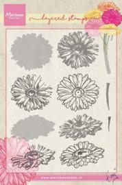 Marianne Design TC0853 - Stempel - Tiny's gerbera