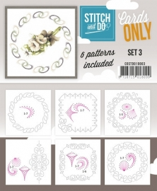 COSTDO10003  Stitch & Do - Cards only - Set 3