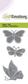 CraftEmotions Die 115633/0145 Vlinders Card