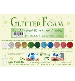 Leane Creatief flower foam 255275 - Glitter Dark Green