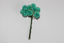 Bloemen groen-blauw 2