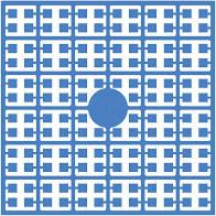 pixelmatje 294 - delftsblauw donker