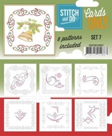 COSTDO10007  Stitch & Do - Cards only - Set 7