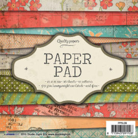 Studio Light Paper pad 36 vel 12 designs nr 09 PPSL09 15x15cm