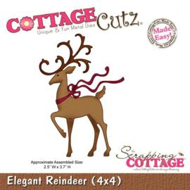 CottageCutz Elegant Reindeer CC4x4-284