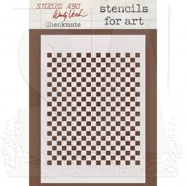 Wendy Vecchi Stencils for Art WVSFA026 Checkmate