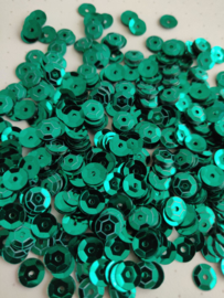 Pailletten 6mm emerald groen 201901016