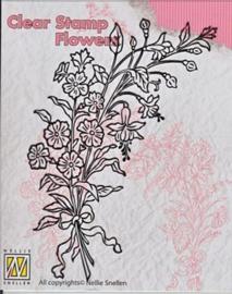 "FLO007 Clear Stamps flowers ""boeket wilde bloemen-2"""