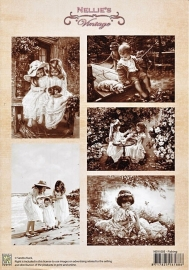"A4 knipvel Nellie's Vintage NEVI-003 ""fishing"""