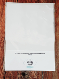 Transparant perkament papier