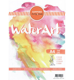 WaterArt A4/300grs 12 sheets