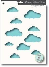 Memorybox stencil 88558 cloud cover