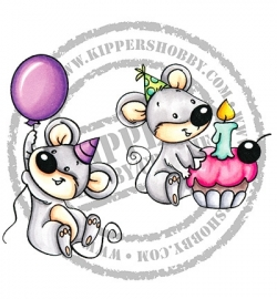 C.C. Designs - Birthday Mice RB1123
