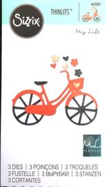 Sizzix 662065 Thinlits Die Set - Bicycle