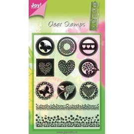 6410/0062 Joy!Crafts Stempel Neutraal (rond)