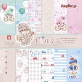 ScrapBerry's My little stap Paper Set 6x6 Inch 170gsm