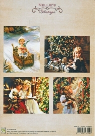 "A4 knipvel Nellie's Christmas Colour Vintage NEVI017 ""Cozy Christmas"""