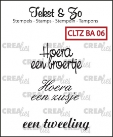 Crealies - Tekst & Zo stempels Baby 6 - CLTZBA06
