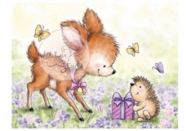 Wild Rose Studio Clearstamp CL376 Bluebell with Hedgehog