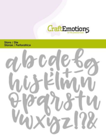 CraftEmotions Die 115633/0427 - alfabet handlettering kleine letters