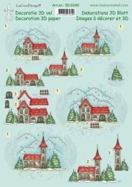 Le Crea Design 50.9340 winter decoration paper
