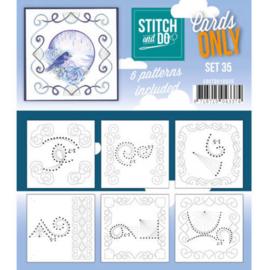 COSTDO10035 Stitch & Do - Cards only - Set 35