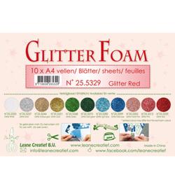 Leane Creatief flower foam 255329 - Glitter Red