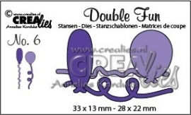 Crealies - Double Fun stansen no. 6