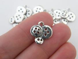 Knoop bedeltjes 15x14 mm zilver