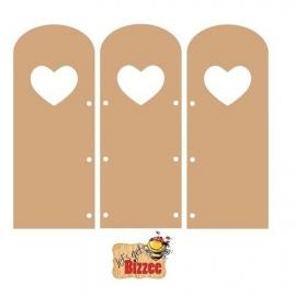Let`s get Bizzee Drieluik hart MDF 461.692.170