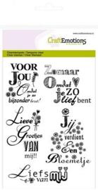 CraftEmotions 130501/1147 - A6 tekst NL Lieve groetjes van mij