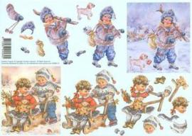 Jalekro 99088/16 kindjes in sneeuw