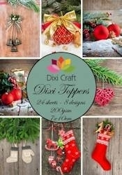 Dixi Craft - Paperpack - Mini Toppers - Vintage christmas color ET0004